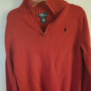 RALPH LAUREN-POLO HALF ZIP SWEATER